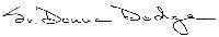 Sister Donna Dodge Signature